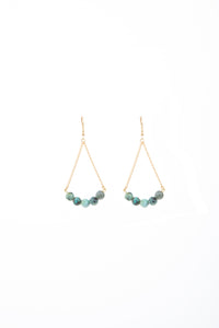 African Turquoise Rebel Earrings