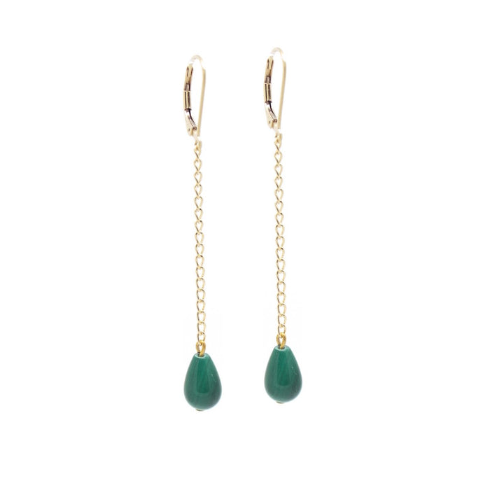 Penelope Malachite Swing Earrings