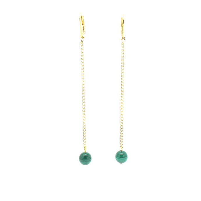 NOLA Swing Malachite Earrings