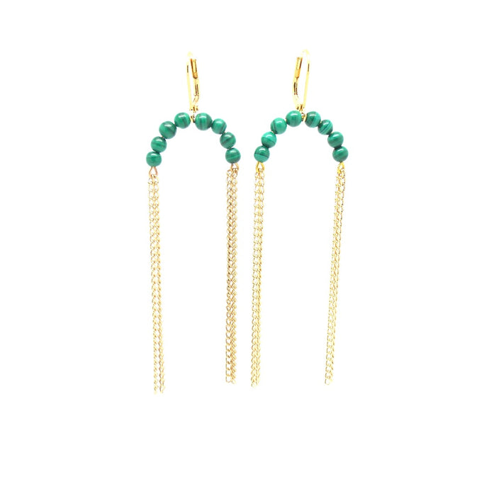 NOLA Malachite Earrings