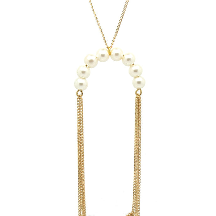NOLA Pearl Necklace - Gold