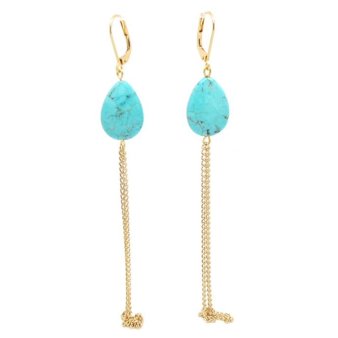 Mata Hari Turquoise Earrings