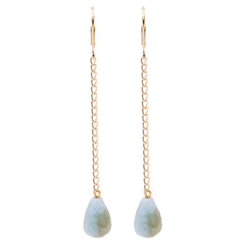 Bridal Collection Swing Aquamarine Earrings