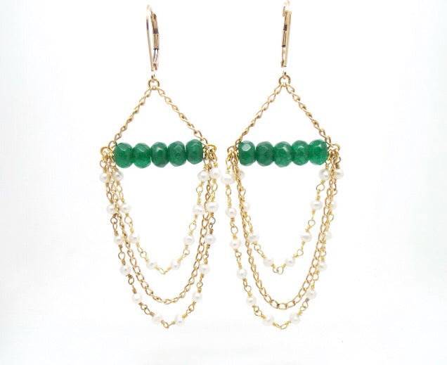 Candy Jade Chandelier Earrings