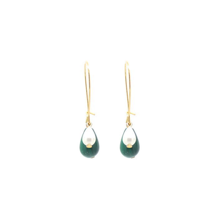 Penelope Malachite 3-in-1 Earrings