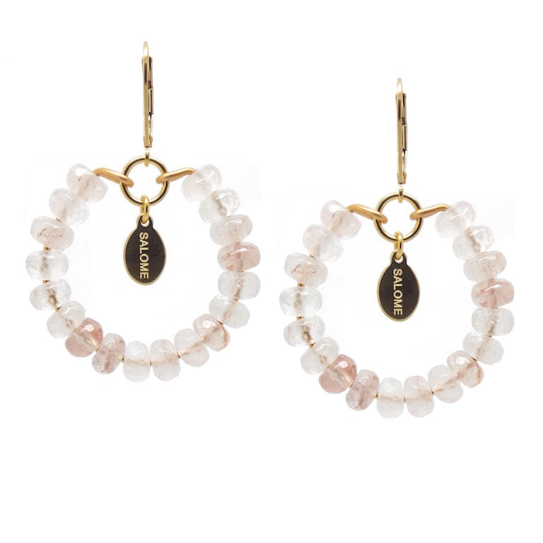 Bridal Collection Tribal Rose Quartz Earrings