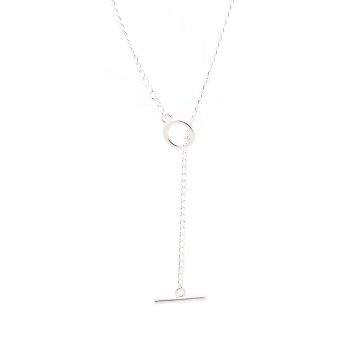 SALOME x Stephanie Waxberg silver lariat necklace