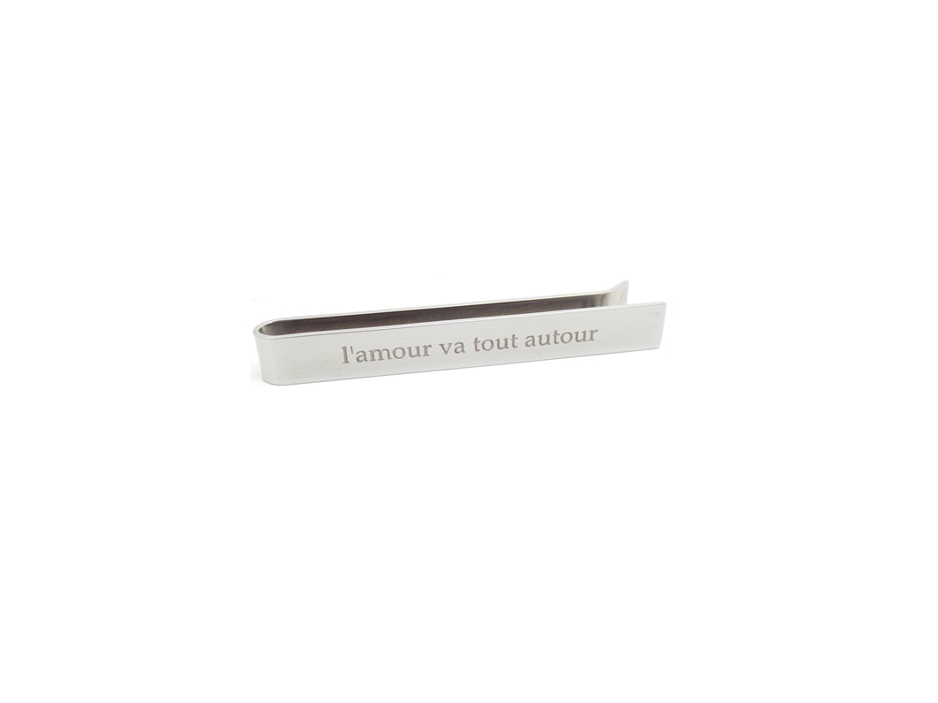 Bridal Collection For Him Tie Clip - L'Amour Va Tout Autour