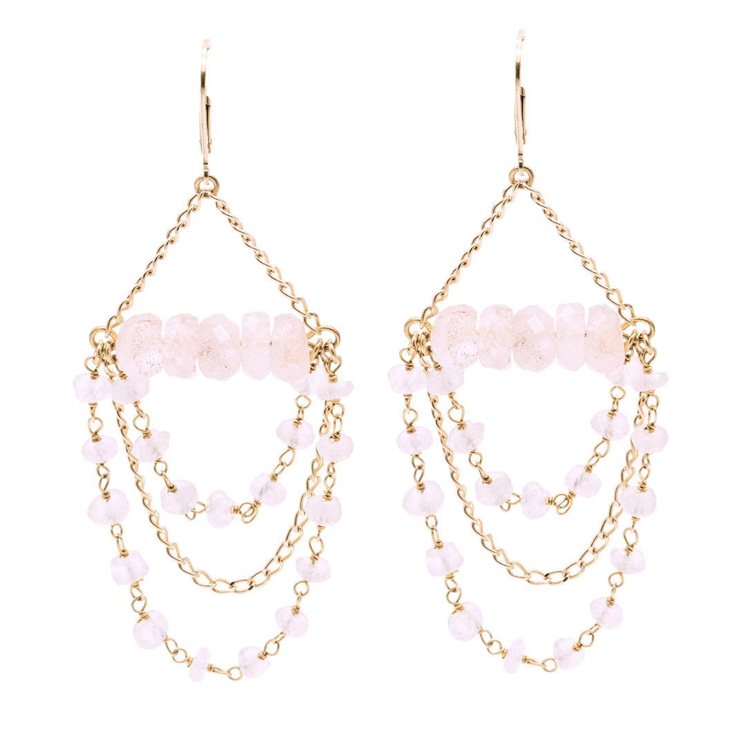 Bridal Collection Tilly Rose Quartz Earrings