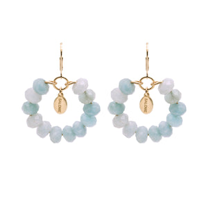 Bridal Collection Tribal Aquamarine Earrings