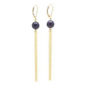 SALOME x Stephanie Waxberg goldstone drop fringe