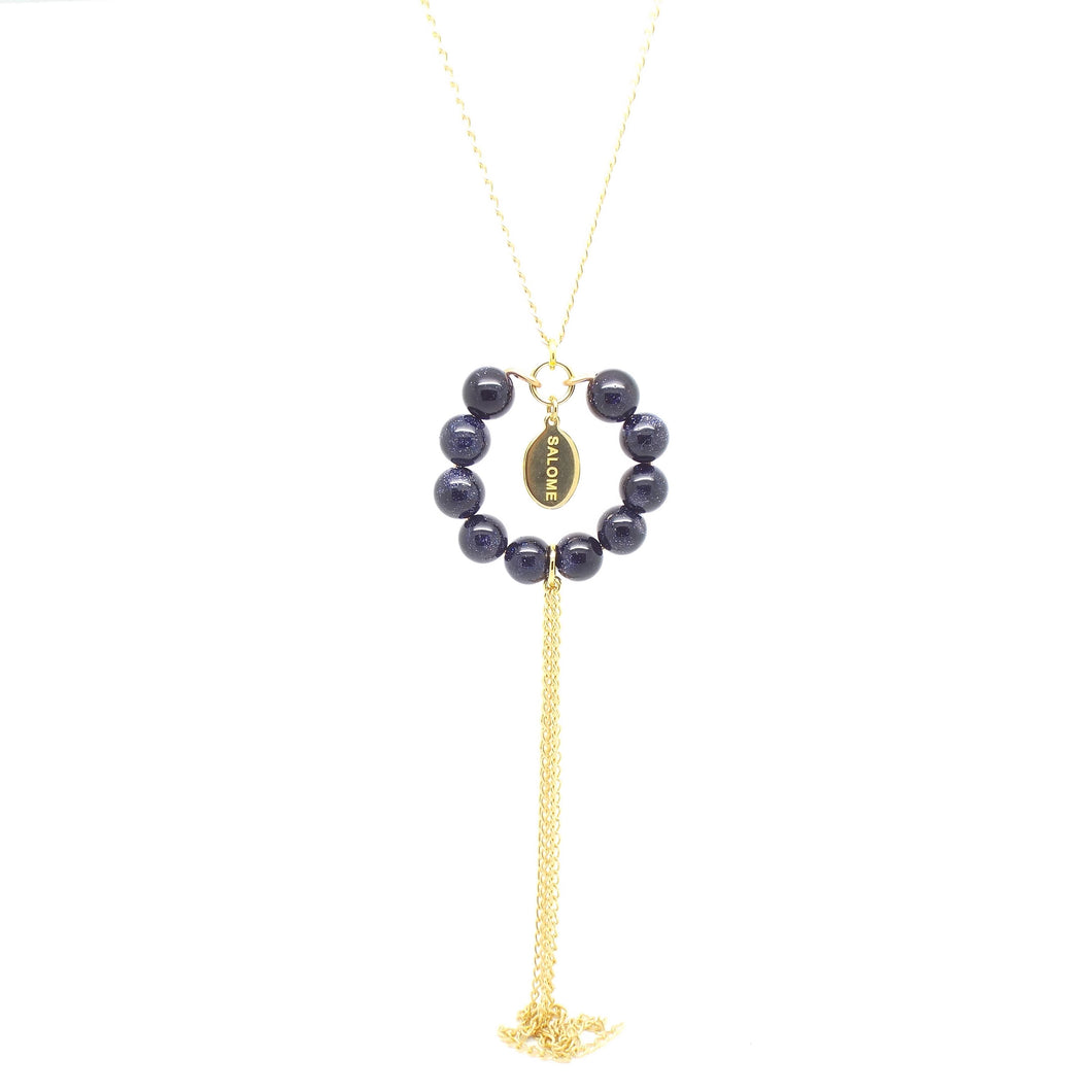 SALOME x Stephanie Waxberg Tribal goldstone necklace