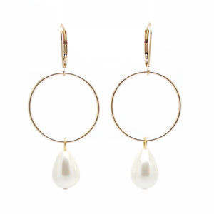 SALOME x Stephanie Waxberg Signature Pearl Earrings - Gold