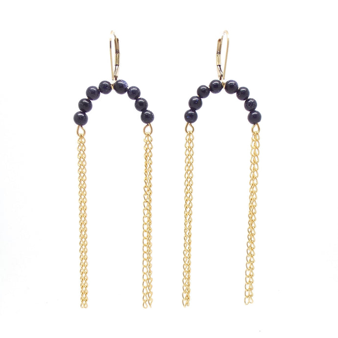SALOME x Stephanie Waxberg Nola goldstone earrings
