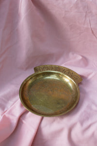 Vintage Brass Pocket Change Dish