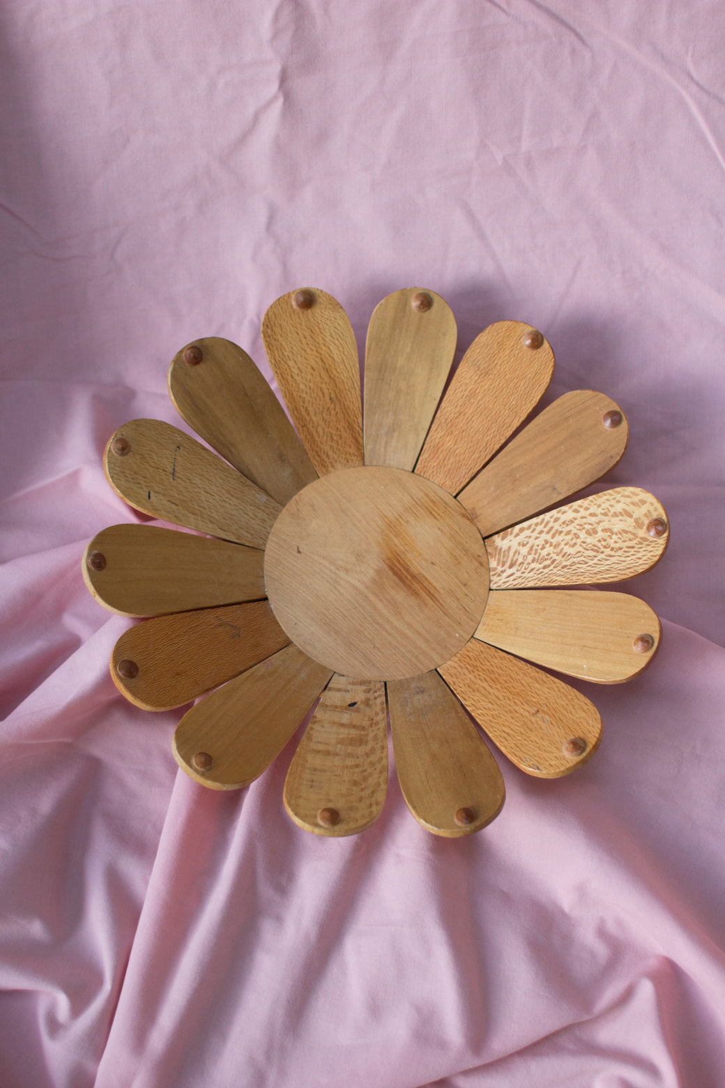 Vintage Daisy Wooden Bowl