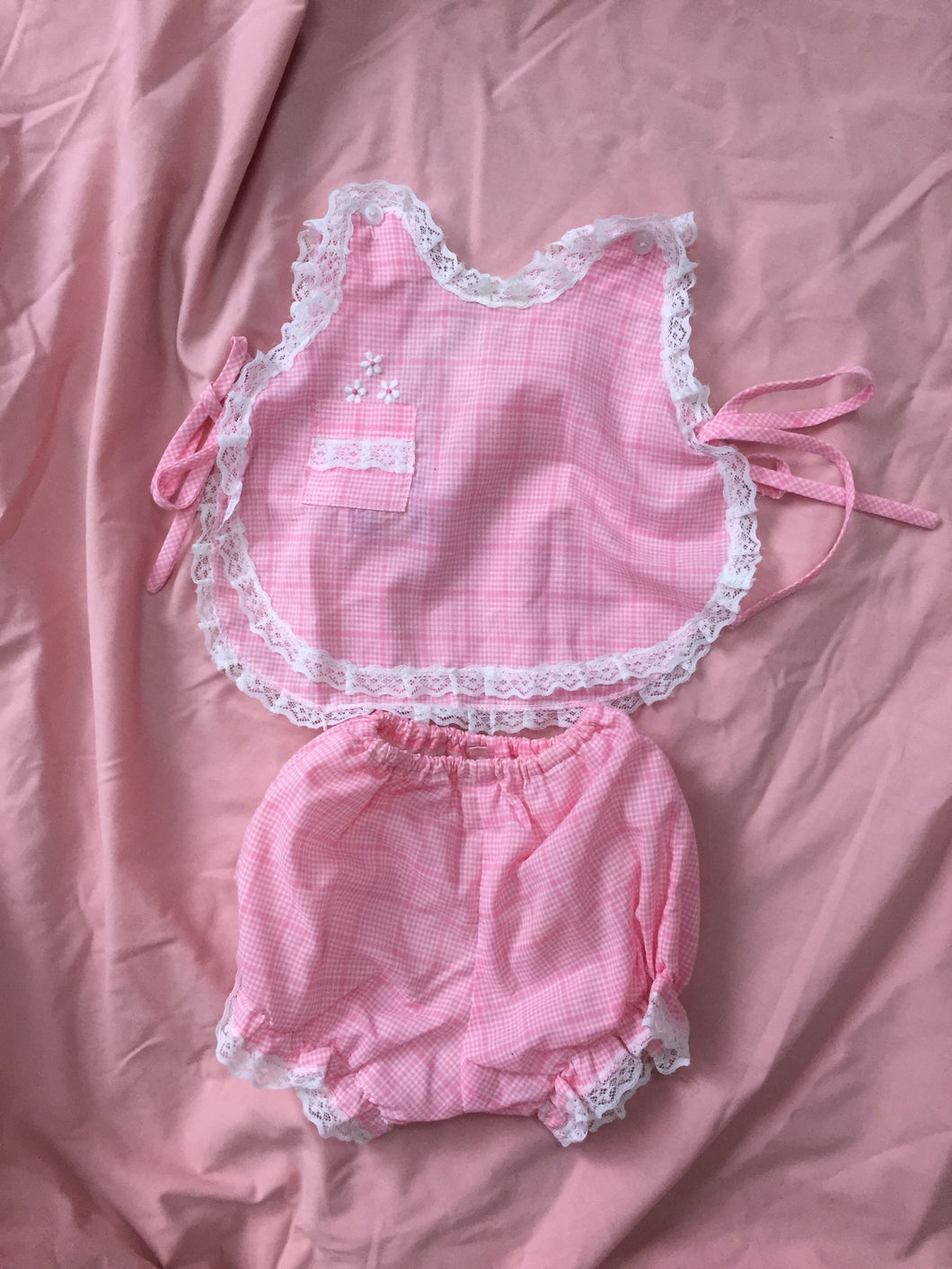 Vintage Baby Girl Two Piece Set