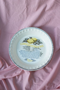 Vintage Lemon Pie Dish