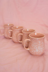 Vintage Pink Speckled Mugs