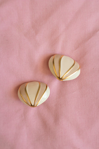 Vintage Pink Gold Earrings