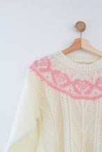Load image into Gallery viewer, Vintage Pink Fair Isle Sweater
