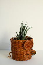Load image into Gallery viewer, Wicker Mouse Plant Pot