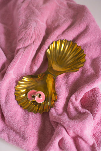 Vintage Pink Gold Big Earrings