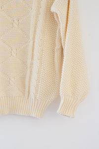 Fisherman Creme Knit Sweater