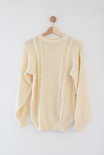 Load image into Gallery viewer, Fisherman Creme Knit Sweater