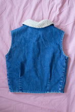 Load image into Gallery viewer, Vintage Kids Denim Shearling Vest