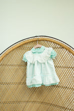 Load image into Gallery viewer, Vintage Baby Girl Teal Dress