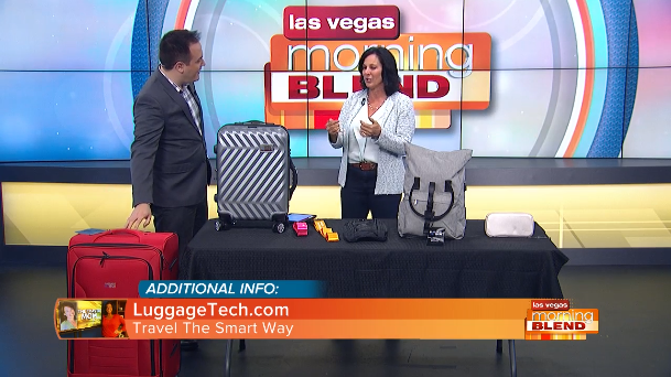 The Travel Mom Talks About Luggage Tech - Morning Blend KTNV Las Vegas
