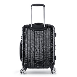 NILE Collection SMART Luggage by Luggage Tech. Ergonomic, push-button handle and double spinner wheels