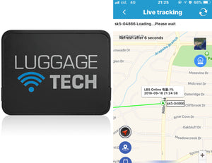 "The 28"" Nile Collection SMART Luggage features GPS tracking so you'll always know where your luggage is. Free app available for iPhone / Android."