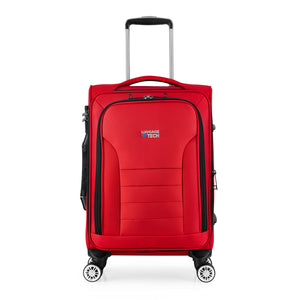 Melbourne Collection SMART Luggage from Luggage Tech looks absolutely stunning in red.