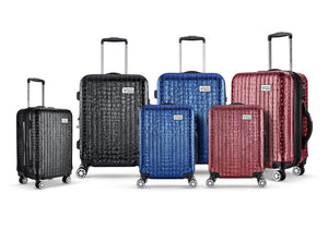 Nile Collection of SMART Luggage by Luggage Tech. Available in 20 inch carry-on and 28 inch sizes
