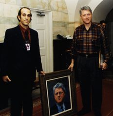 Allen Hirsch with President Bill Clinton 1993