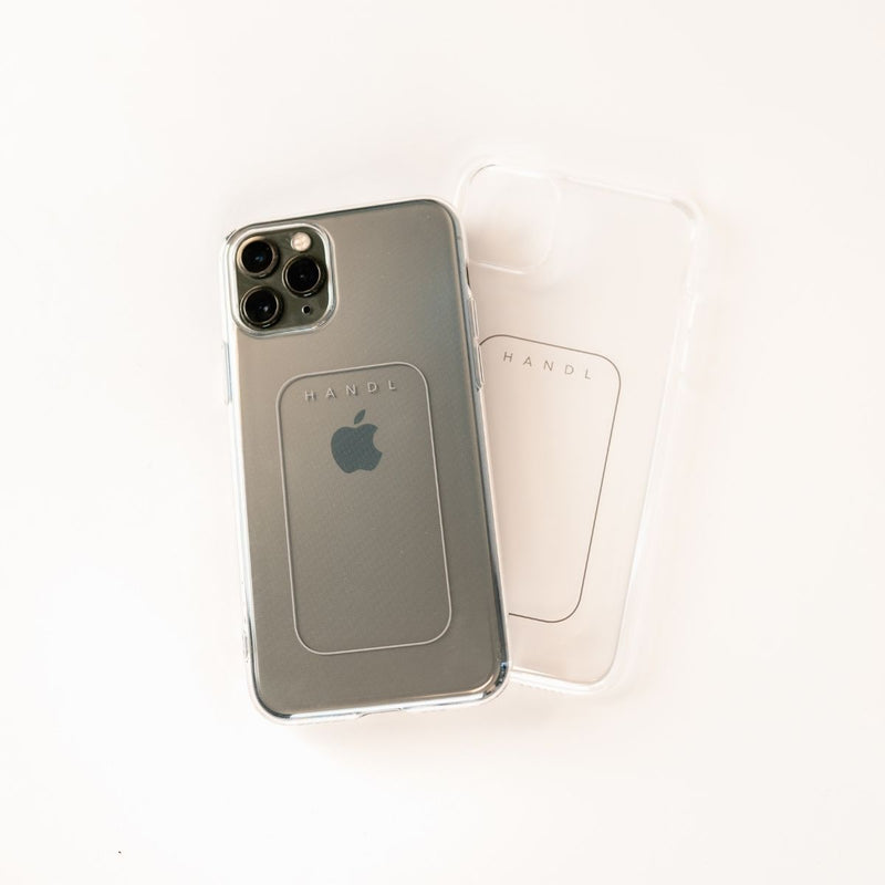 Clear Phone Case with HANDL Placement Etching