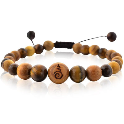 Tiger's Eye & Sandalwood Entwined