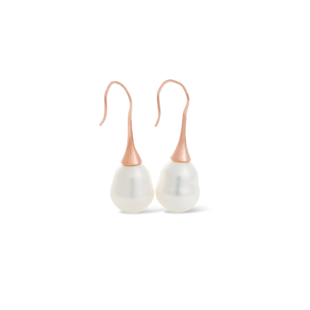 Baroque Rose Gold Pearl Earring
