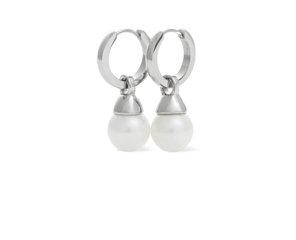 Hoop Earring Round 10mm Shell Pearl