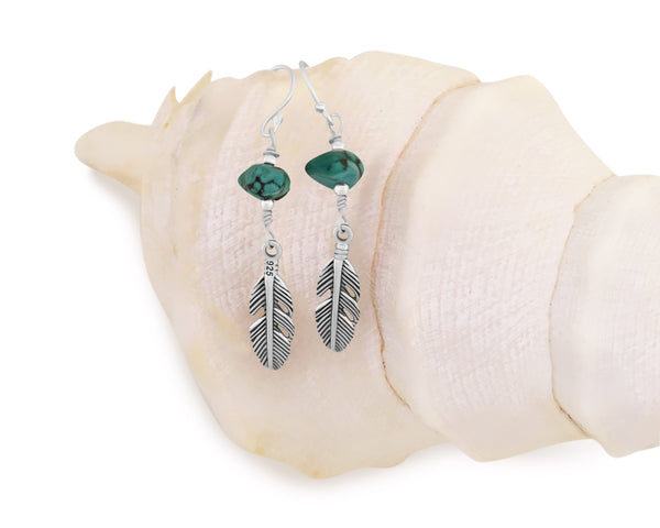 Spirit Feather Drop Earrings