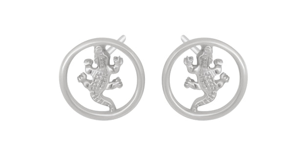 Salt Water Crocodile Open Work Stud Earring