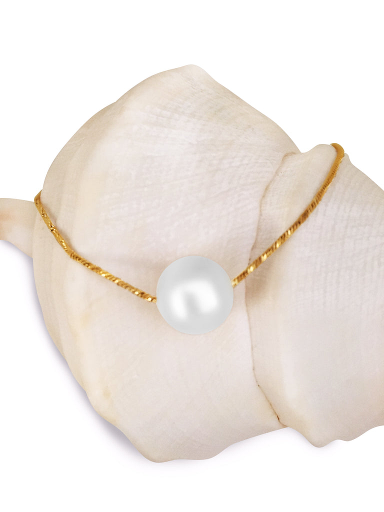 Pele Freshwater Pearl Necklace Gold/Rose Gold