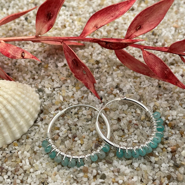 Amazonite Hoop Small