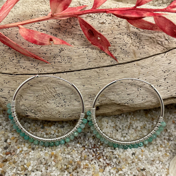 Amazonite Hoop Large