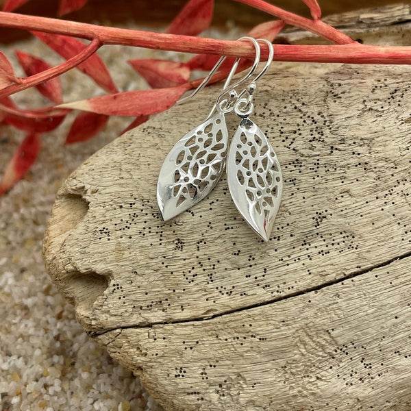 Filigree Leaf Earring Drop