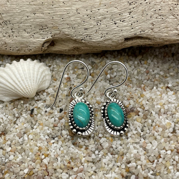 Indie Turquoise Drop Earrings