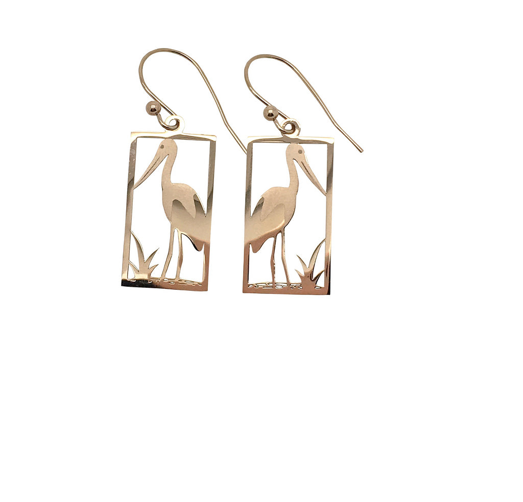 Jabiru Earring Rose Gold