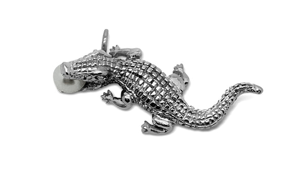 Crocodile Pendant with Freshwater Pearl
